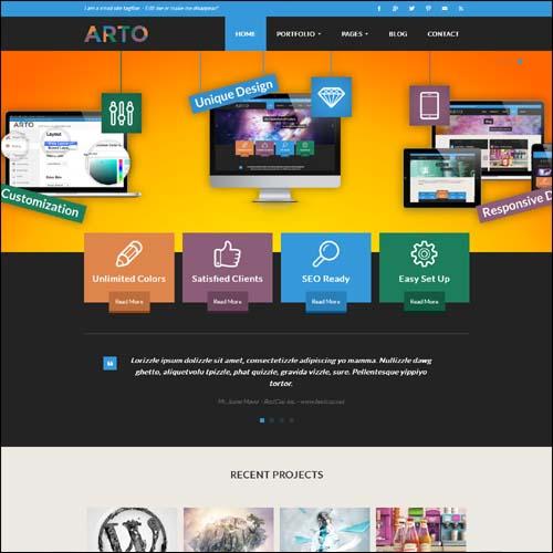 Arto A Flat & Responsive Multipurpose Theme