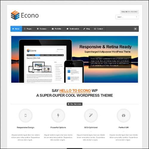 Econo Retina Responsive Multi-Purpose WP Theme