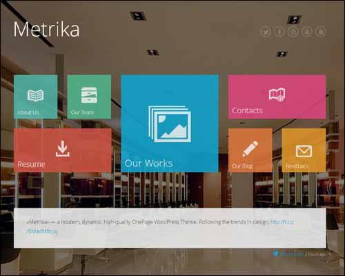 Metrika Responsive OnePage WordPress Theme