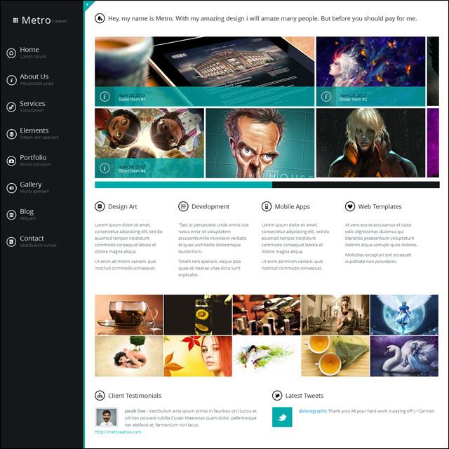 The Wetro Creative WordPress Theme