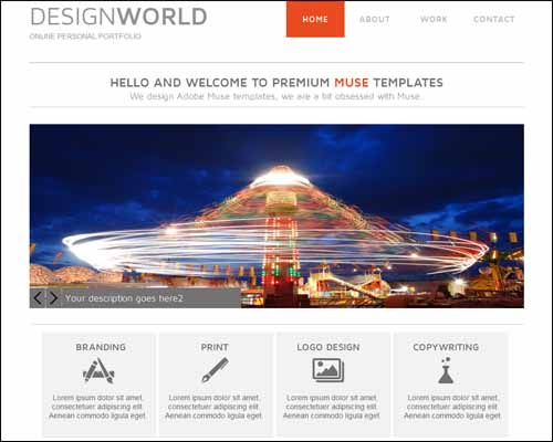 adobe muse templates & themes