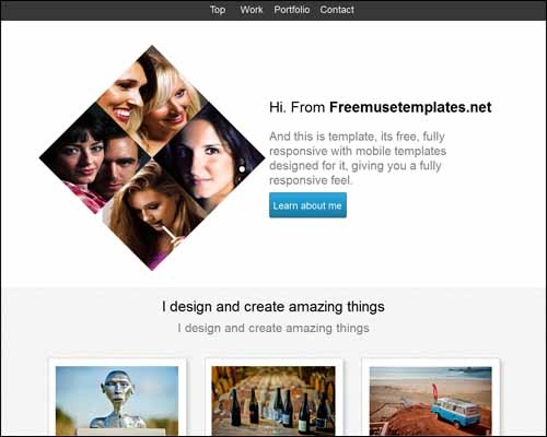 Free and premium responsive adobe muse templates 56pixels pronofoot35fo Images