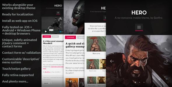 HERO - A no-nonsense mobile theme for WordPress