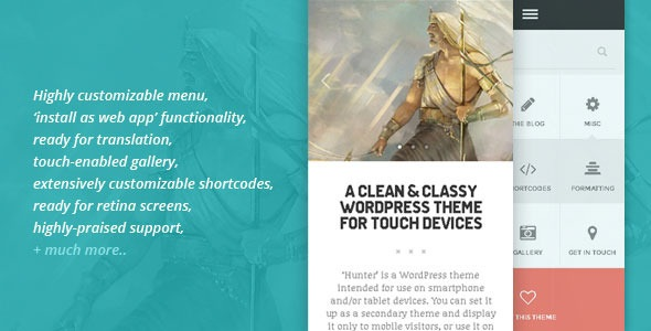 HUNTER - A clean & classy WordPress theme