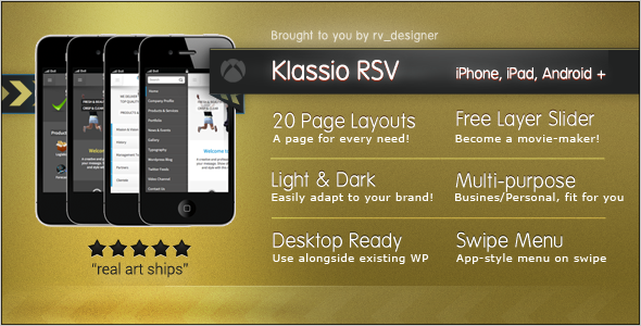 Klassio RSV | Responsive WordPress Mobile Template