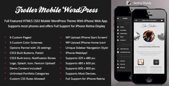 Troller Mobile Retina | WordPress Version