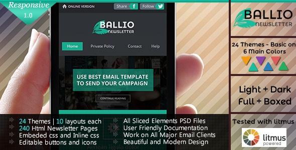 BALLIO - Flat Responsive Email Template