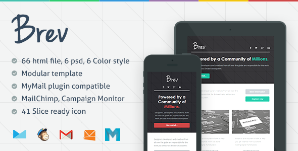 Brev - Responsive Email Template