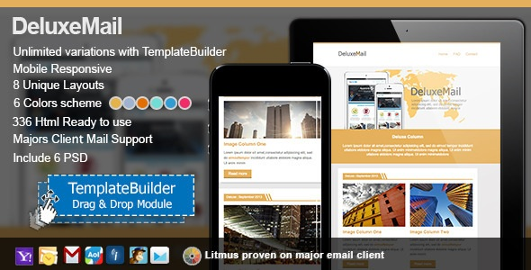 Deluxe Responsive E-mail Templates
