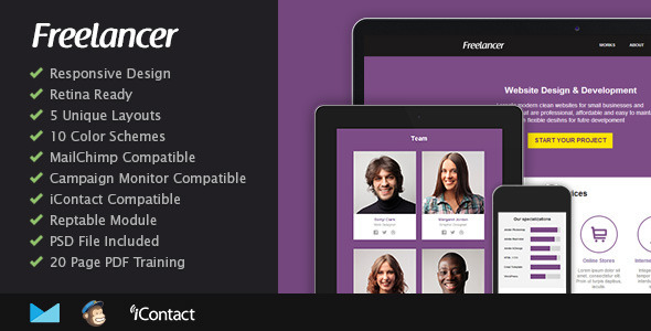 Freelancer – Responsive Email Template