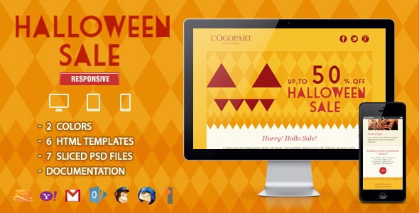 Halloween Sale - Responsive Email Template