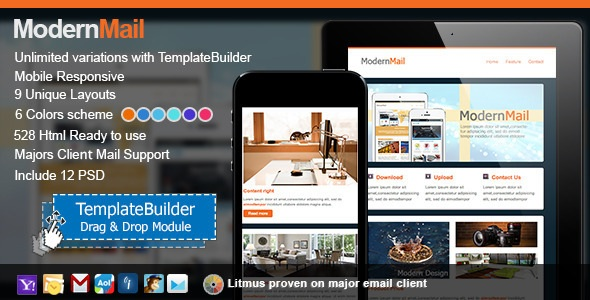 ModernMail Responsive E-mail Templates