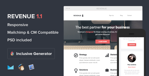 Revenue - Responsive Email With Template Builder