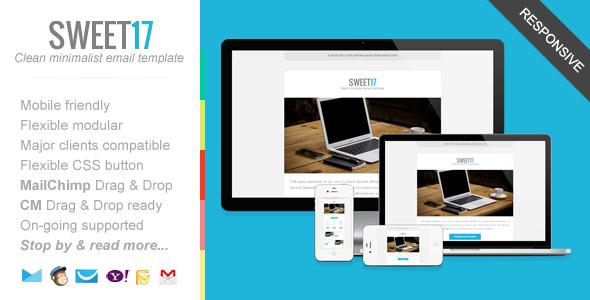 Sweet17 - Clean Minimalist Newsletter Template