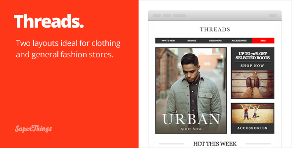 Threads responsive email set