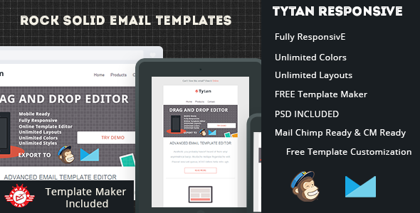 tytan responsive email template is a multi purpose email template