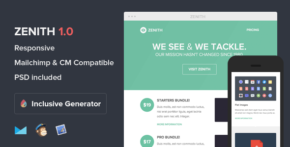 Zenith - Responsive Email With Template Builder