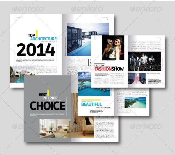 Free and premium print magazine templates for Magazine layout templates free download