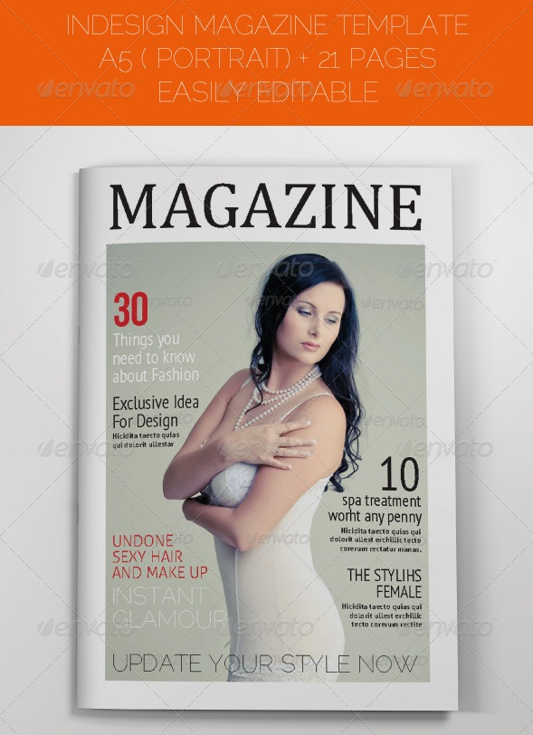 Portrait Magazine Template