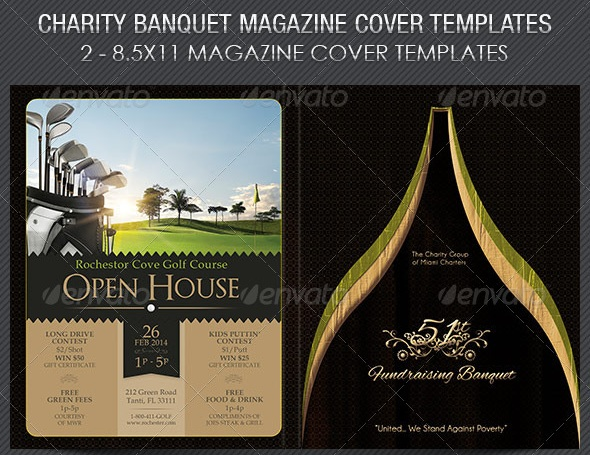 Charity Banquet Magazine Cover Template