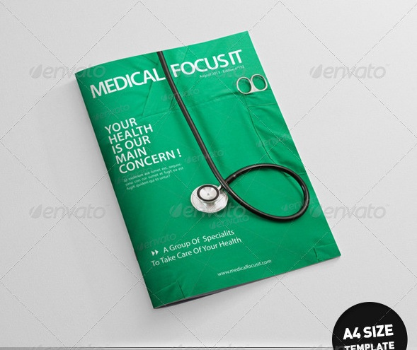Health and Medical Magazine Templates