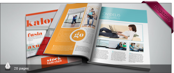 Free and premium print magazine templates for Adobe indesign magazine templates free download