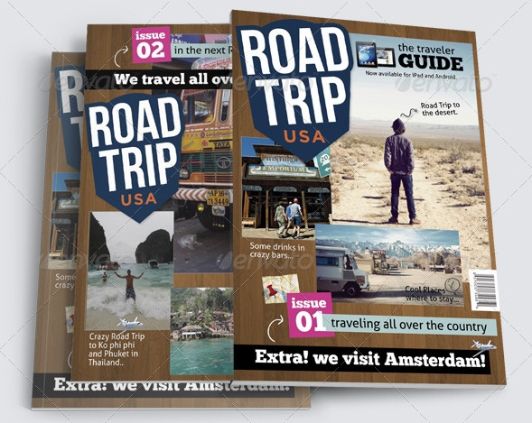 Road Trip Magazine Templates