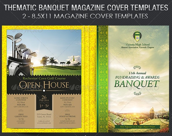 Thematic Banquet Magazine Cover Template