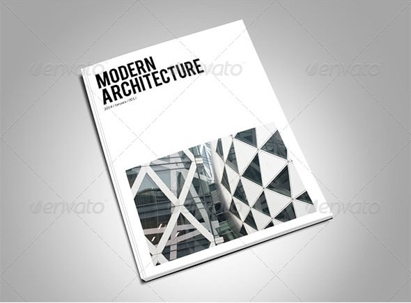 modern architecture magazine template
