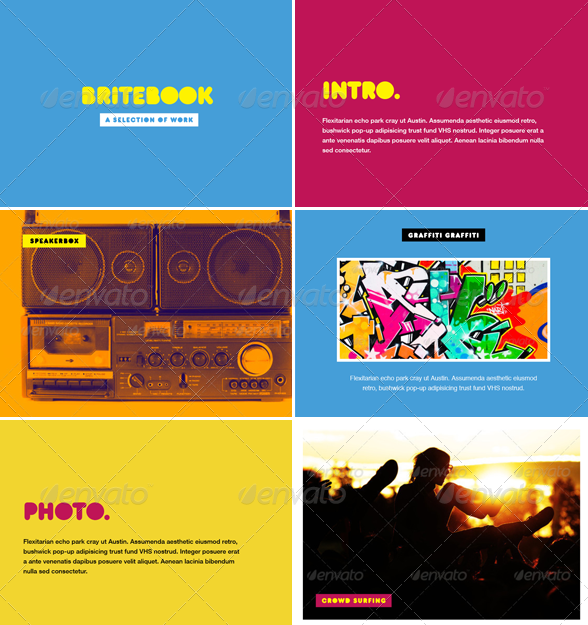 Britebook - Photo Album or Folio Template