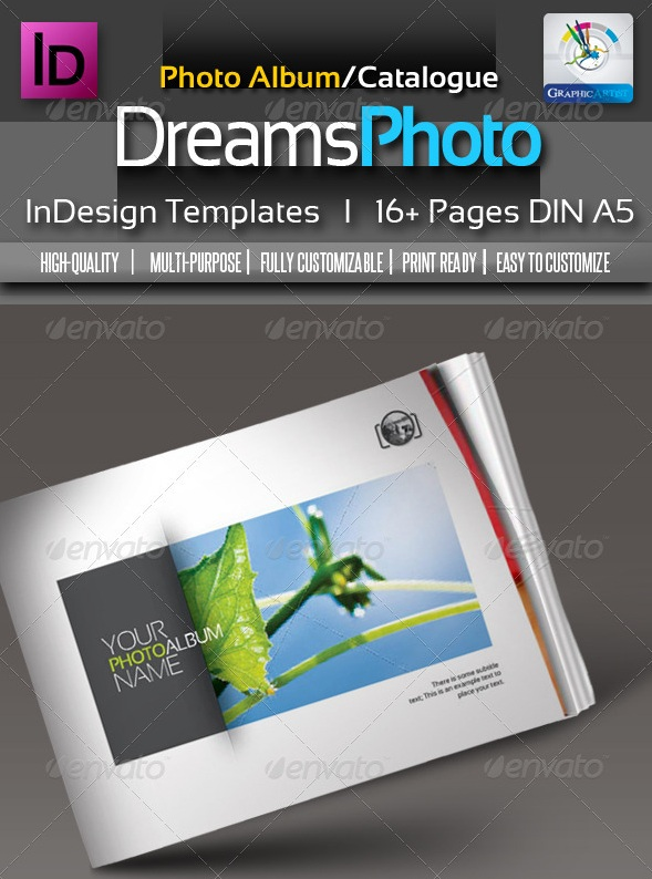 Dreams Clean Photo Album InDesign Templates