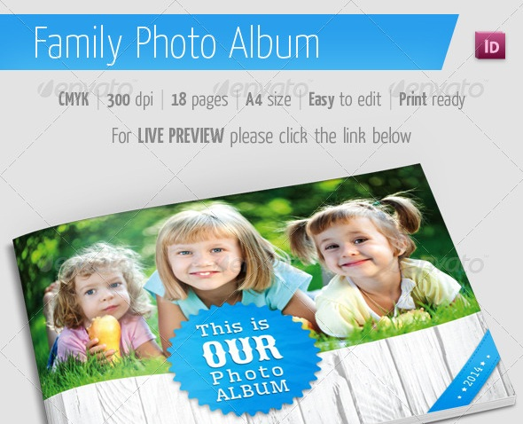 Family Photo Album for Indesign