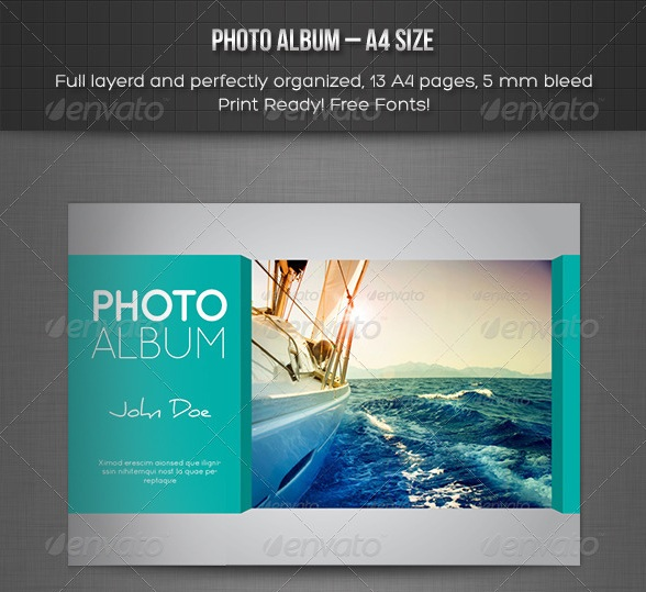 Photo Album – Landscape Template