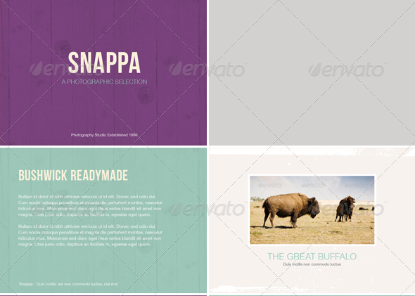 Snappa - Photo Album or Folio Template