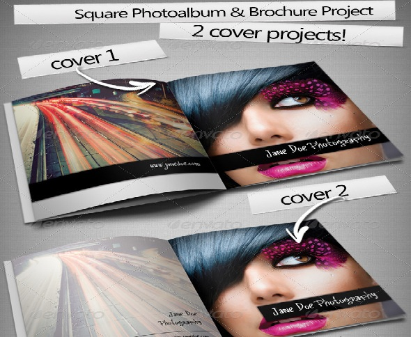 Square Photo Album & Brochure