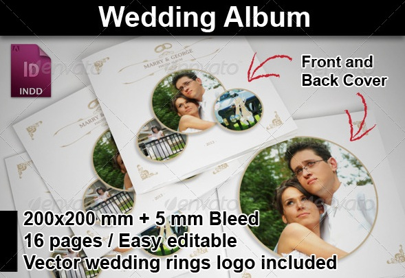 Wedding Album with Rounded Frames
