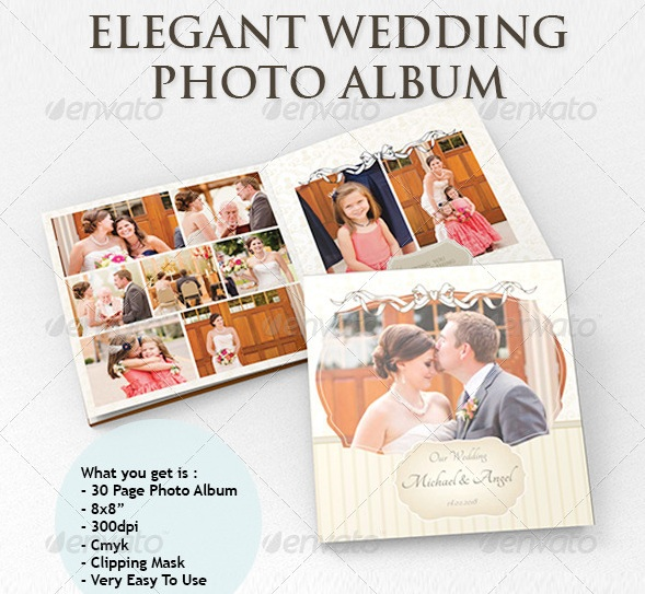 elegant wedding photo album