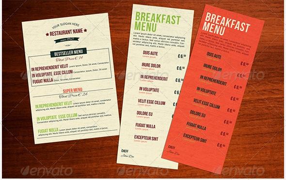 Free And Premium Food And Restaurant Menu Brochure Pixelscom - Menu brochure template