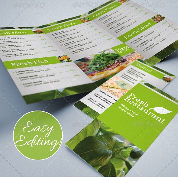 free and premium food and restaurant menu brochure