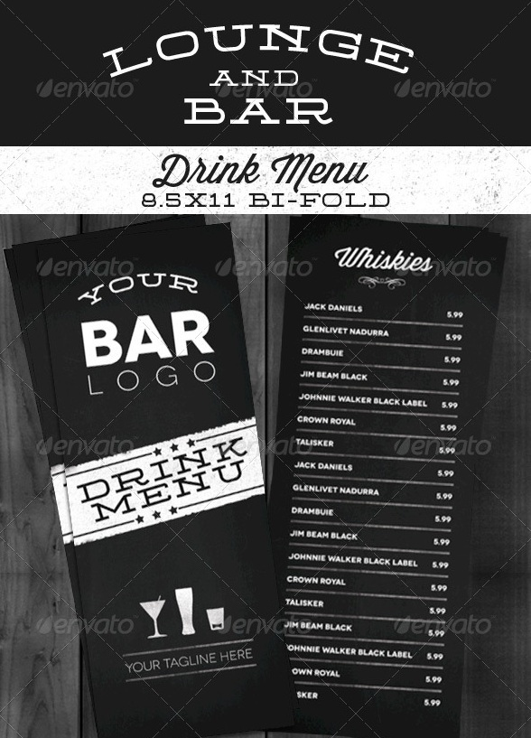 Free and premium food and restaurant menu brochure for Food bar menu