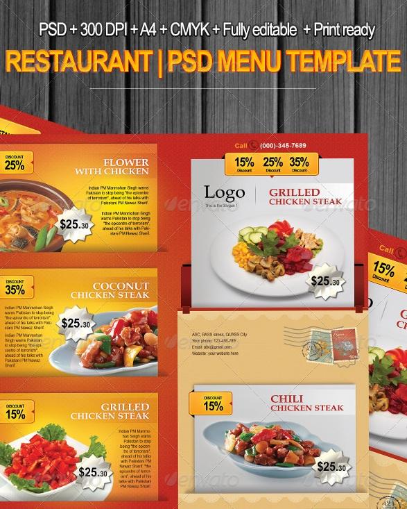 Menu Restaurant 1