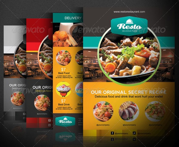 Modern Restaurant and Food Menu Flyer