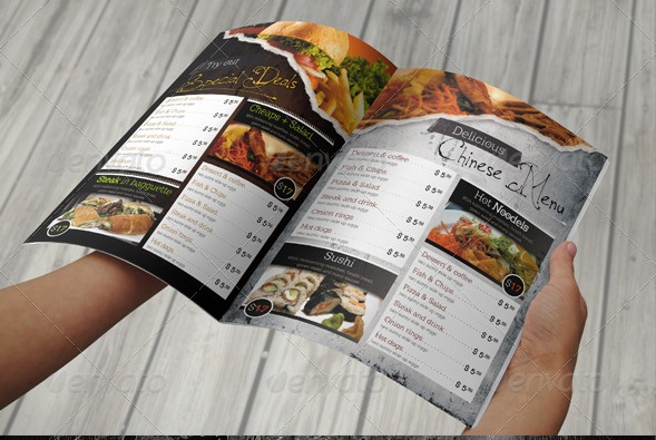 Free and Premium Food and Restaurant Menu Brochure 56pixelscom