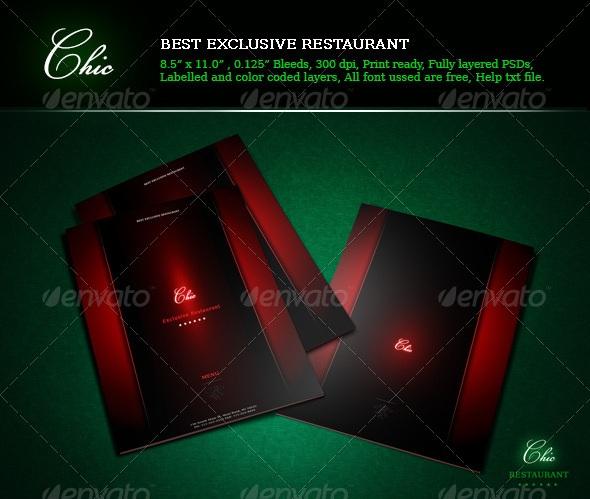 Restaurant Menu Chic