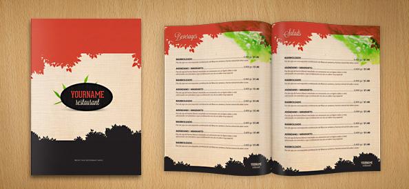 professional restaurant menus