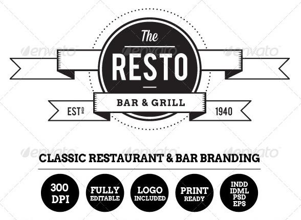 Resto-Bar Menu & Restaurant Branding
