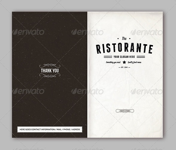 The Ristorante Food Menu