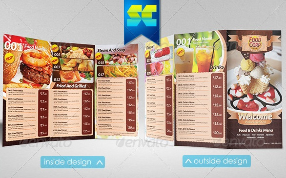 Free And Premium Food And Restaurant Menu Brochure | 56Pixels.Com