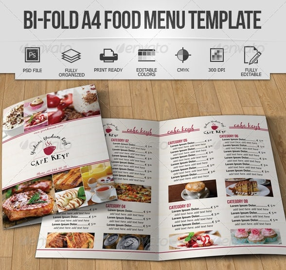 Free And Premium Food And Restaurant Menu Brochure Pixelscom - Take out menu template free