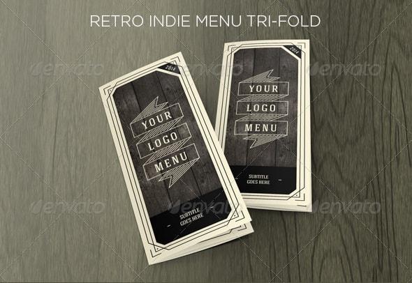 retro indie menu trifold